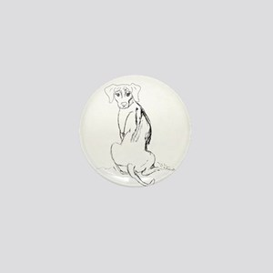 """Rhodesian Ridgeback"" Dog Mini Button"