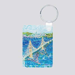 Golden Gate San Francisco Aluminum Photo Keychain
