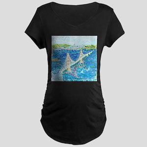 Golden Gate San Francisco Maternity Dark T-Shirt