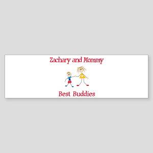 Zachary & Mommy - Buddies Bumper Sticker