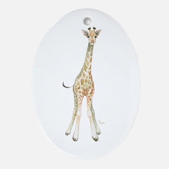 Cute Giraffe Oval Ornament