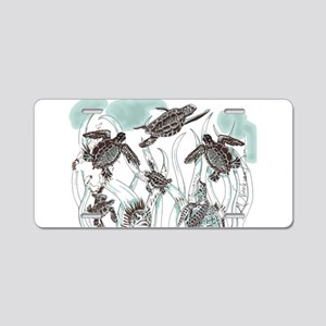 Sea Turtles Aluminum License Plate