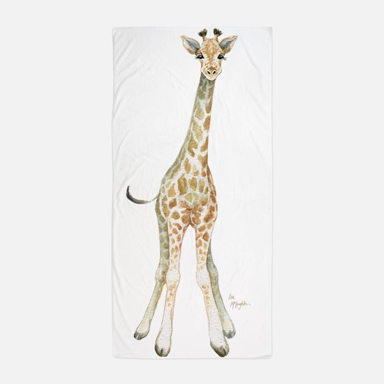 Cute Giraffe Beach Towel