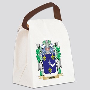 Elijah Coat of Arms (Family Crest Canvas Lunch Bag