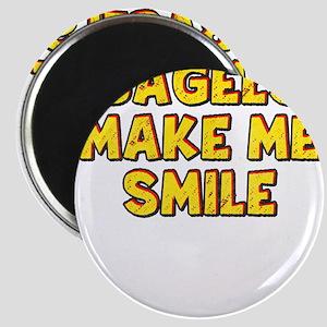 bagels make me smile Magnets