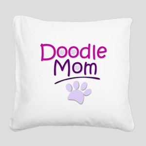 Doodle Mom Square Canvas Pillow