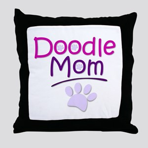 Doodle Mom Throw Pillow