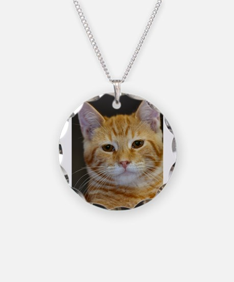 Cute Orange tabby cat Necklace