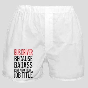 Badass Bus Driver Boxer Shorts