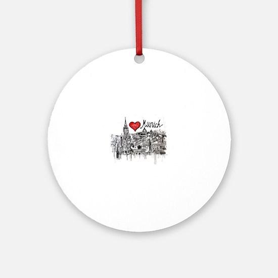 Unique Munich Round Ornament