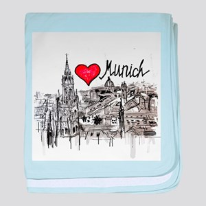 I love Munich baby blanket