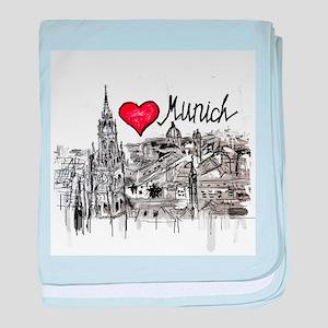 I love Munich baby blanket