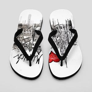 I love Munich Flip Flops