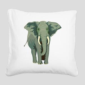 Elephant Square Canvas Pillow