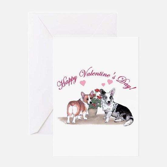 Unique Corgi valentines Greeting Card