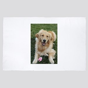 Nala the golden retriever dog in grass 4' x 6' Rug
