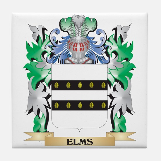 Elms Coat of Arms (Family Crest) Tile Coaster