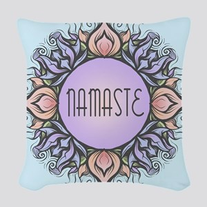Namaste Woven Throw Pillow
