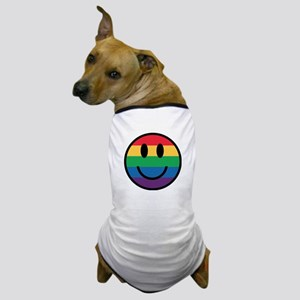 Rainbow Smiley Face Dog T-Shirt
