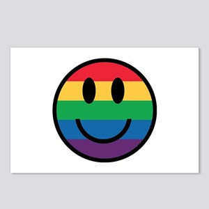 Rainbow Smiley Face Postcards (Package of 8)