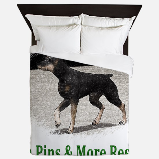 Min Pins & More Rescue Queen Duvet