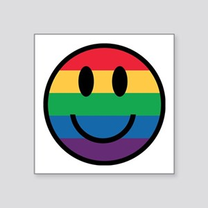 Rainbow Smiley Face Sticker