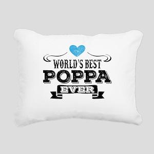 World's Best Poppa Ever Rectangular Canvas Pillow
