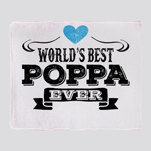 World's Best Poppa Ever Throw Blanket