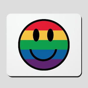 Rainbow Smiley Face Mousepad