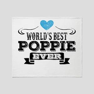 World's Best Poppie Ever Throw Blanket