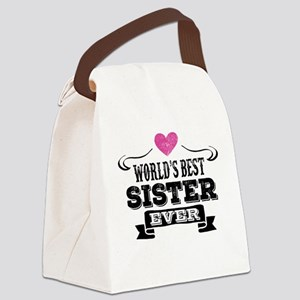 Worlds Best Sister Ever Canvas Lunch Bag