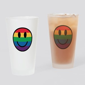 Rainbow Smiley Face Drinking Glass