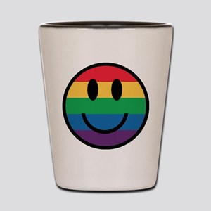 Rainbow Smiley Face Shot Glass