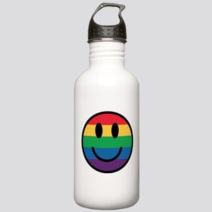 Rainbow Smiley Face Water Bottle