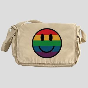 Rainbow Smiley Face Messenger Bag