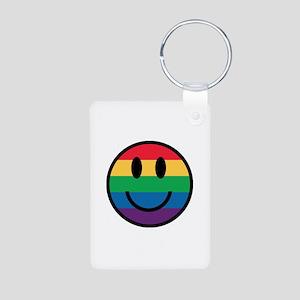 Rainbow Smiley Face Keychains