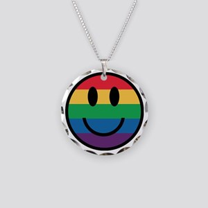 Rainbow Smiley Face Necklace