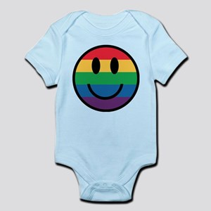 Rainbow Smiley Face Body Suit