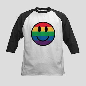 Rainbow Smiley Face Baseball Jersey