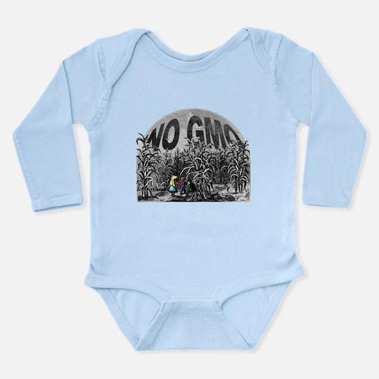 Cute No gmos Long Sleeve Infant Bodysuit