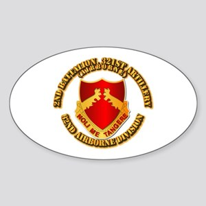 2nd Bn 321 Arty Sticker (Oval)