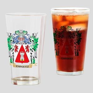 Enriquez Coat of Arms (Family Crest Drinking Glass