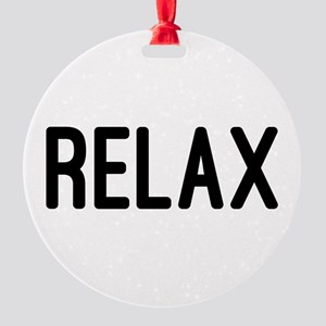Relax Round Ornament