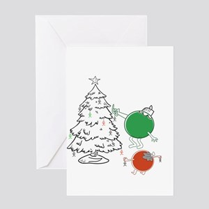 Irreverent greeting cards cafepress christmas balls hanging people greeting cards m4hsunfo