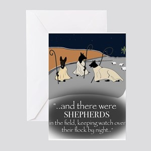 Shepherds In The Night Greeting Cards