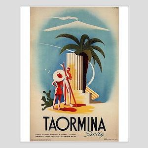 Vinatge Taormina Tourism Poster Posters