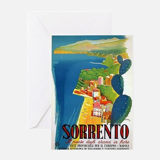 Vintage Sorrento Tourism Poster Greeting Cards