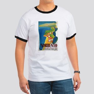 Vintage Sorrento Tourism Poster T-Shirt