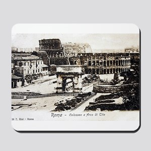 Vintage Post Card of Rome Mousepad