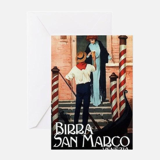 Vintage Italiano Birra Advertisement Greeting Card
